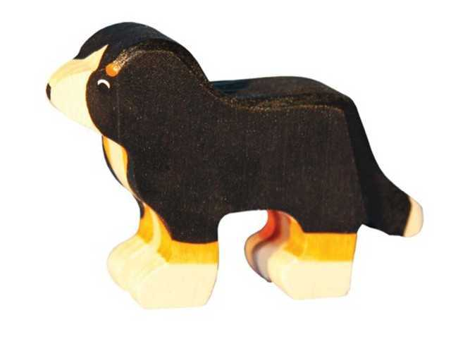 Carved Wooden Bernese Mountain Dogs - three sizes