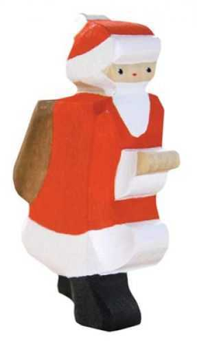 Carved Wooden Santa Figure