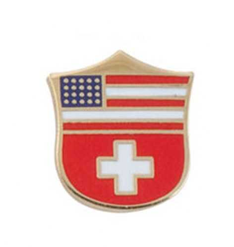 Swiss-US Shield Pin