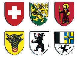 Swiss Canton Shield - Custom Crafted