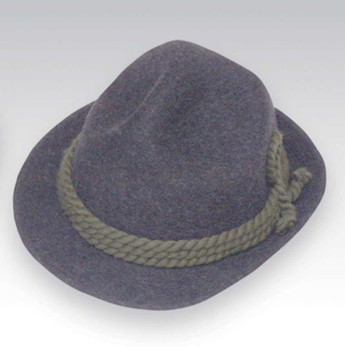 Traditional Alpine Hat Charcoal Grey