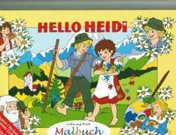 Heidi Coloring Book with Story